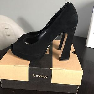Sexy Black Le Chateau Heels - Size 9