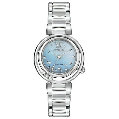 Citizen Women's EM0320-59D Sunrise Diamond Accent Silver-Tone Band 30mm Watch