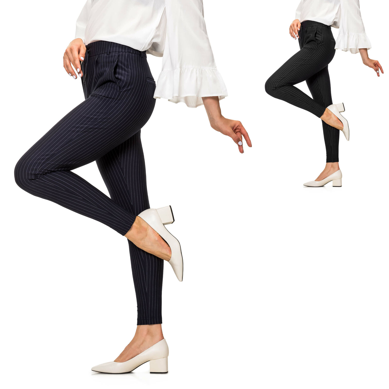 NEU Only Damen Hose Anzughose Business Freizeithose Chinos Stoffhose Color Mix