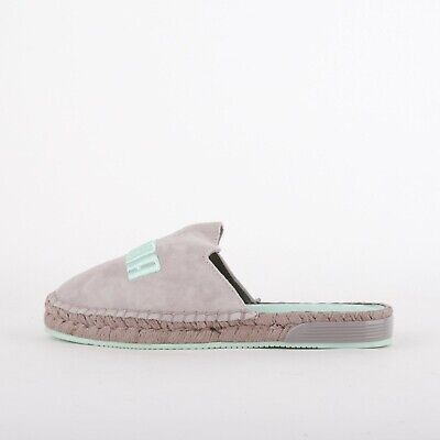 Womens Puma X Fenty Grey/Blue Espadrille Sliders (LF1) RRP £90.99