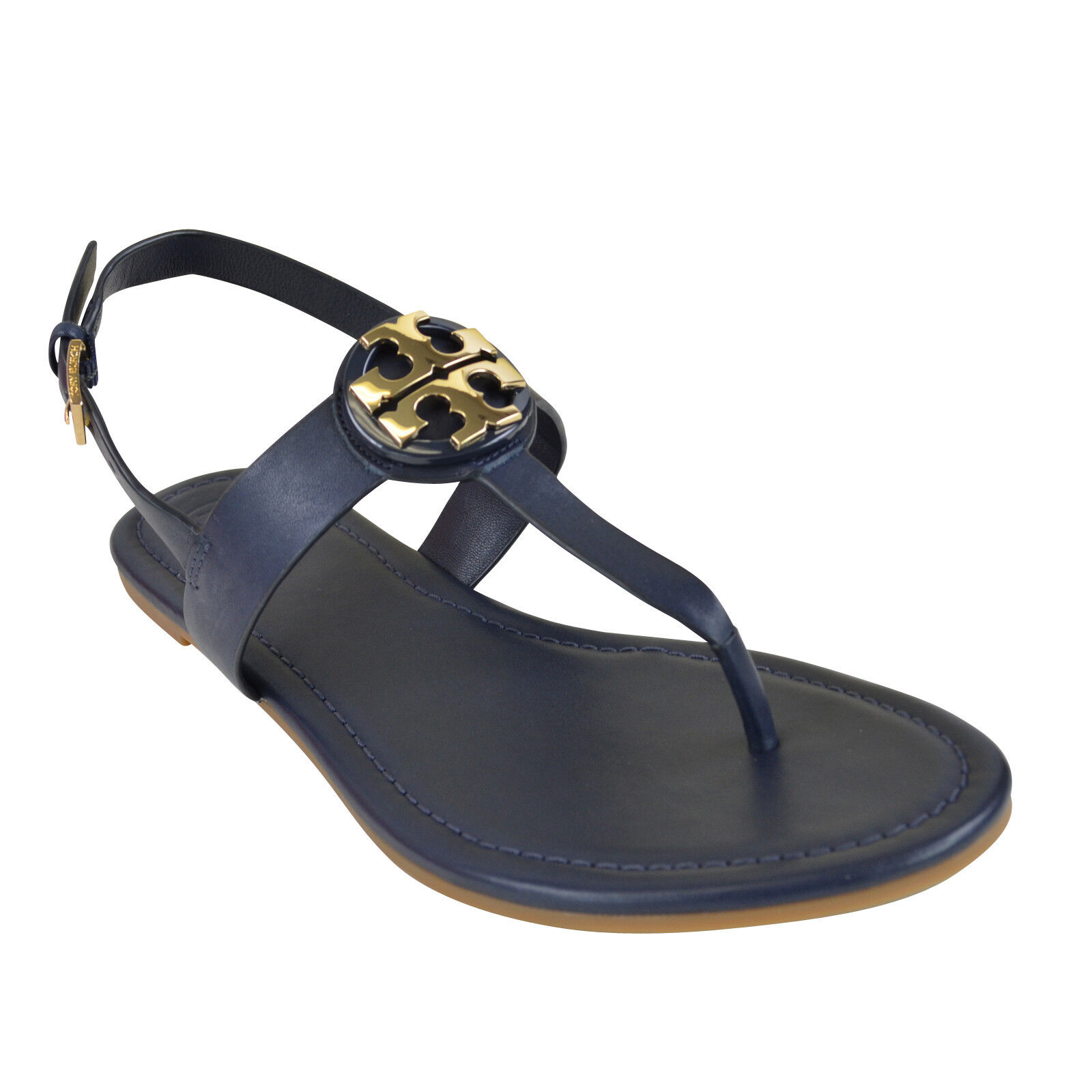 83f318aef294 Details about NIB Tory Burch Bryce Vegan Leather Sandal in Bright Navy