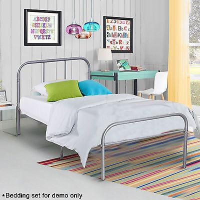 Twin Size Platform Metal Steel Bed Frame Home Bedroom Furniture Headboards