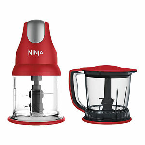 Ninja Master Prep Quad Blade 400 Watt Power Blender Mixer U0026 Food Processor,  Red