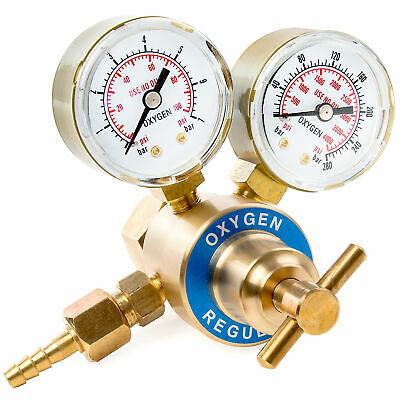 Solid Brass Replacement Oxygen Regulator Gauge 0-4000 Psi For Victor Style Kit