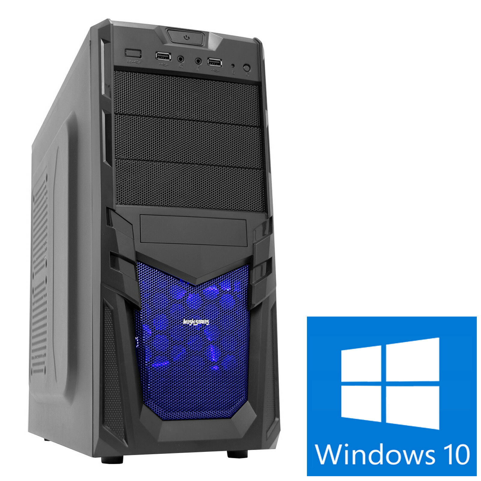 Computer Games - Mega Fast AMD 4.1 Dual Core Gaming PC Computer 8GB GT 1030 1TB Windows 10 Viper