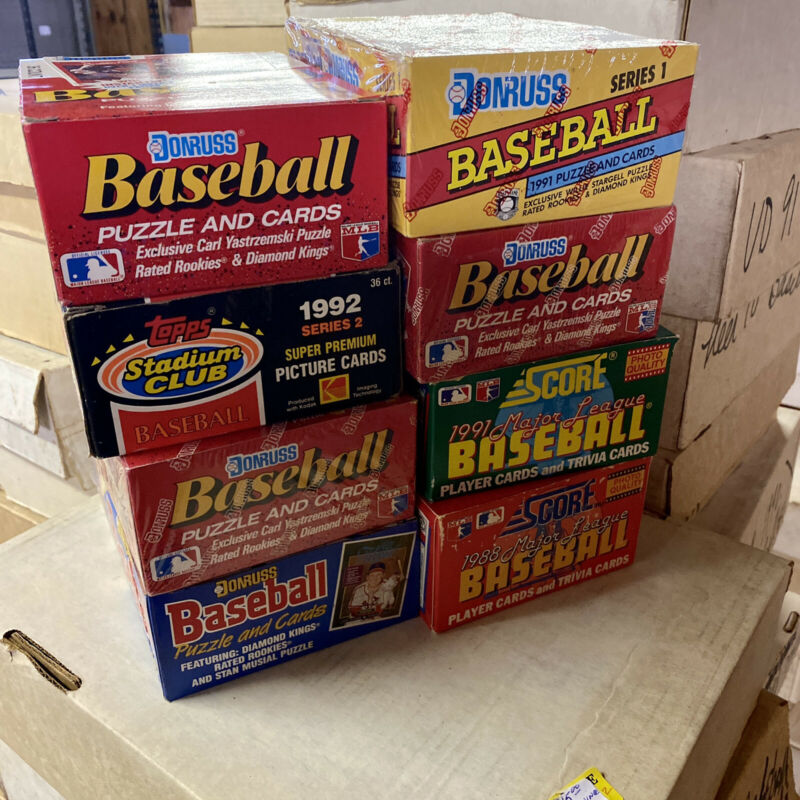 Incredible Baseball Cards Storage Find - Vintage Sealed Wax Packs Card Lot