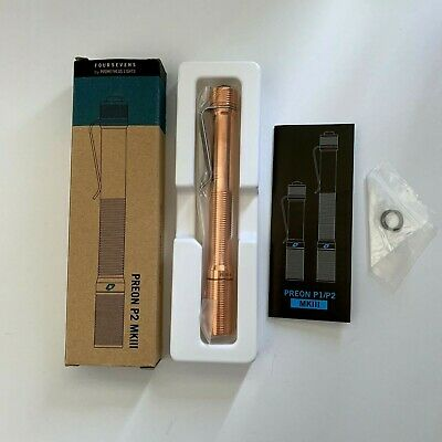 FourSevens by Prometheus Lights Preon P2 MKIII Flashlight Solid Copper