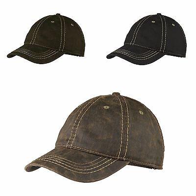 MEN'S CAP, CONTRAST STITCH,  WORN-IN LOOK, ADJUSTABLE, LOW PROFILE Contrast Stitch Adjustable Cap