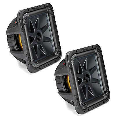 "2x Kicker Solo-Baric L7S 1500 Watt Peak 12"" 2 Ohm Dual Voice Coil Subwoofers"