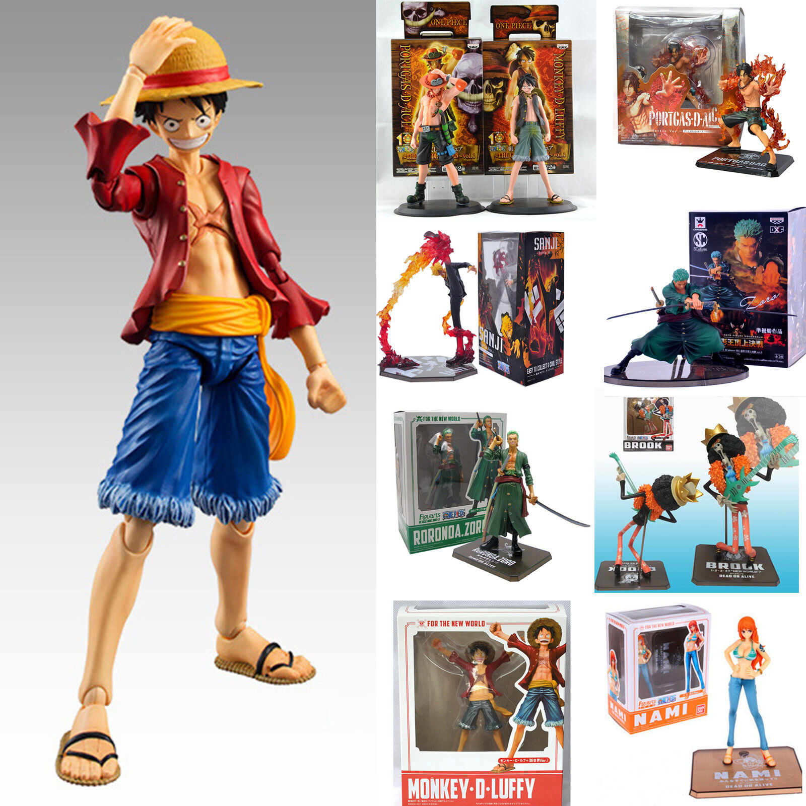 "18 CM// ANIME FIGURE SANJI 7/"" IN BOX ONE PIECE FIGURA SANJI BATTLE VER"