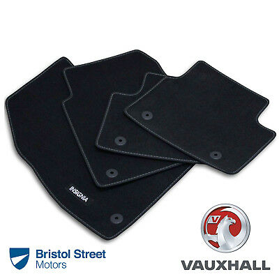 Car Parts - Genuine Vauxhall Insignia A FACELIFT Velour Black Front/Rear Carpet Floor Mats