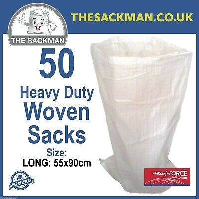 50 Woven polypropylene, Sacks Strong Large Size 55cm x 90cm Woven Sacks Rubble