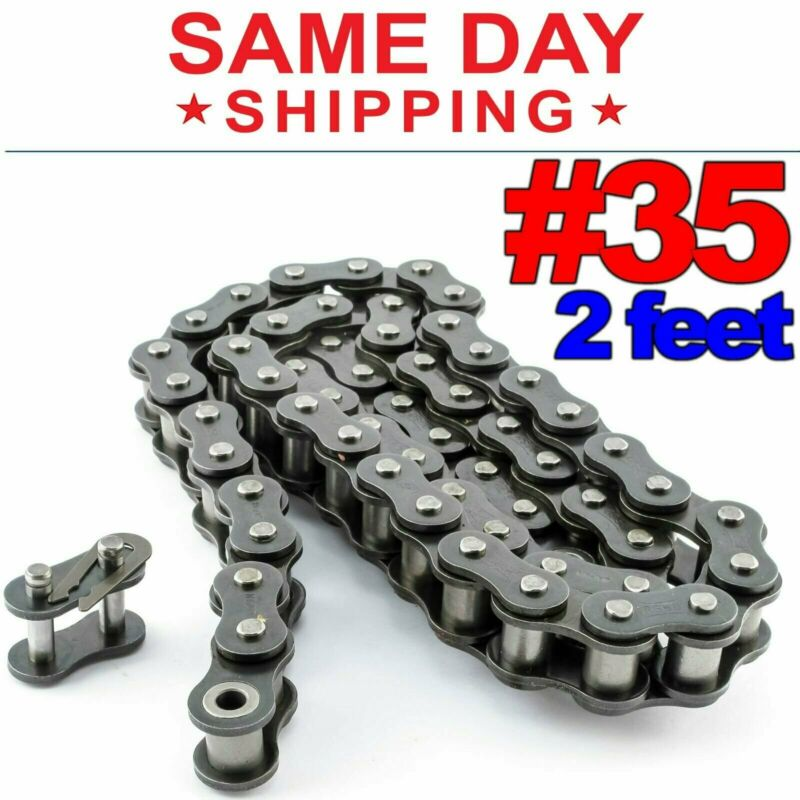 #35 Roller Chain x 2 feet + Free Connecting Links + Same Day Shipping