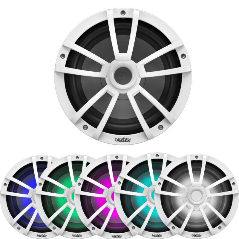 "Infinity Reference 10"" 750 Watt White 4 Ohm Marine Subwoofer w/ RGB LED Lighting"