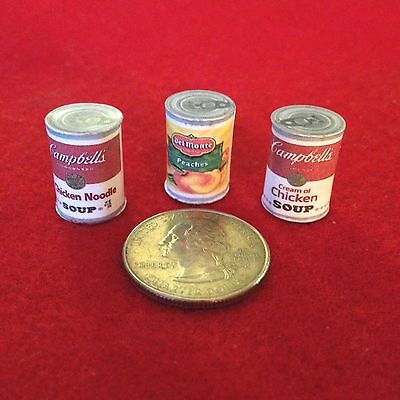 """1:6 Handmade miniature for 11""""-12"""" size dolls - Canned food #3"""