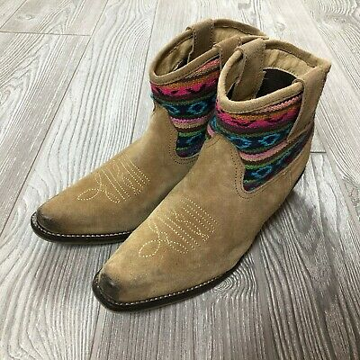 Roper Western Print Cowgirl Boots Kid's Girl's Size 2  S103