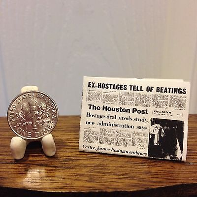 Texas Houston Quote Wooden Plaque @1 3//4 X 3//4 Cowboy Wall Dollhouse Miniature