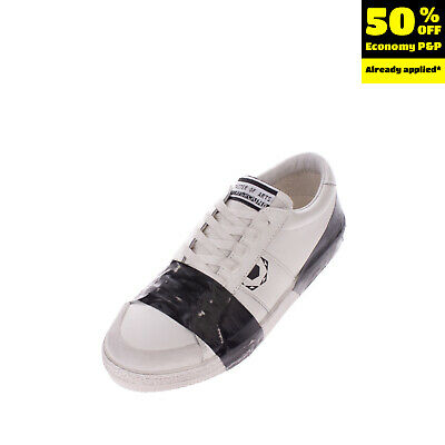RRP€140 MOA MASTER OF ARTS Leather Sneakers Size 40 UK 6.5 US 9 Duck Tape Effect