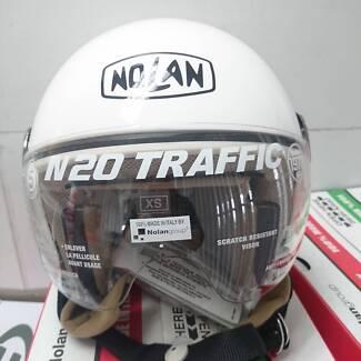 Nolan N20 Traffic Classic Plus Helmet - Extra Small - White