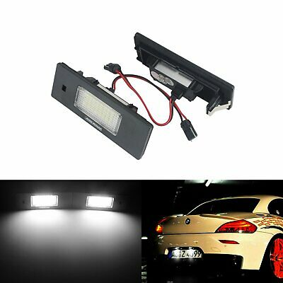 2x LED Licence Number Plate Light White BMW E63 F12 M6 E85 E89 Z4 F20 E81 E87 i3
