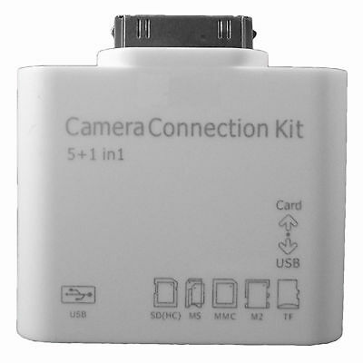 5 in 1 Camera Connection Kit Card Reader USB Cable Adapter Apple iPad 12 3 SD TF