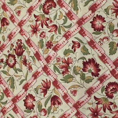 MODA Jardin de Versailles 100% cotton fabric by the yard - Pearl Rose (De Cottons)