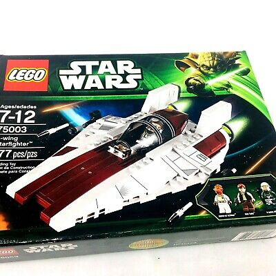 lego star wars A-wing starfighter 75003 incomplete with instructions & box