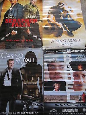 THEATER MOVIE ROOM DECOR FOUR MOVIE POSTERS 007 CASINO ROYALE PITT BROSNAN GUYS!](Casino Royale Decorations)