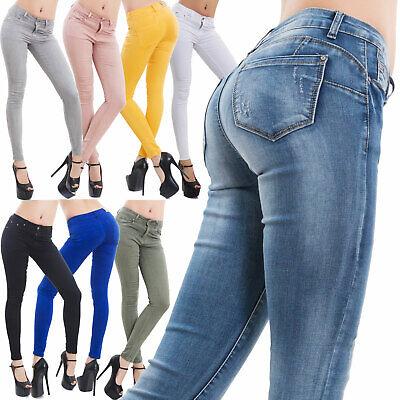 Jeans donna pantaloni skinny slim elasticizzati push up aderenti nuovi M5780