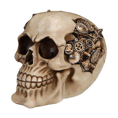 Steampunk Skull of Cogs Halloween Table Decor Halloween Wasteland - Mechanical Halloween Decorations