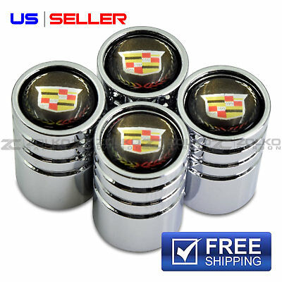 VALVE STEM CAPS WHEEL TIRE CHROME FOR CADILLAC VE06 - US SELLER