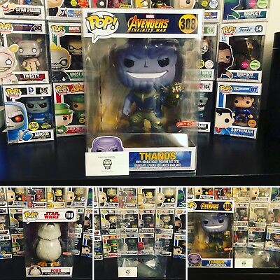 10 Inch Funko Pop  Protector  50Mm Thick Plastic Thanos Hulk Porg Not Included