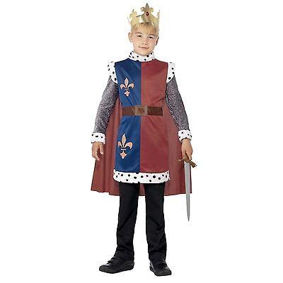 Kinder Jungen Königsblau Prinz Hochzeit König Artus George Kostüm Märchen