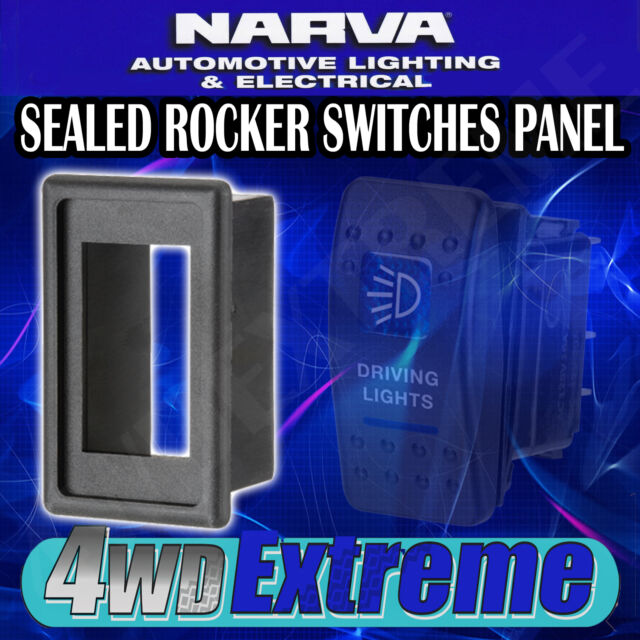 NARVA ROCKER  SWITCH PANEL FOR DASH MOUNT SWITCHES 4X4 4WD ARB CAMPING 63180BL