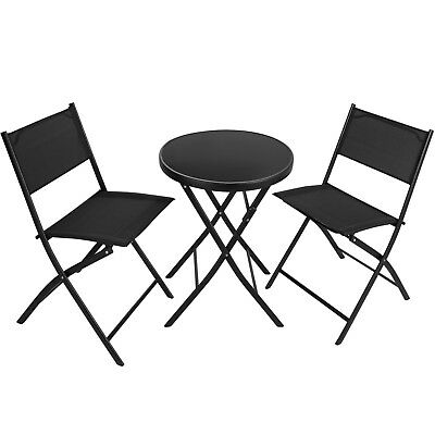Meubles Bistro Set Salle Salon de Jardin Terrasse Balcon Extérieur Table Chaises