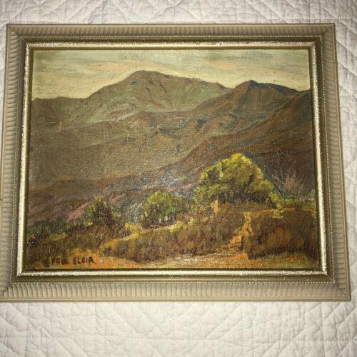 VINTAGE landscapes original oil PAINTING by Blair desert hand painted plein air