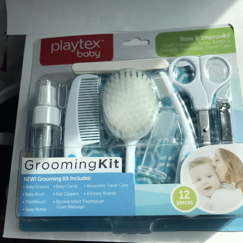 Playtex Baby 12-Piece Grooming Kit Clippers Brush Comb Toothbrush Scissors More