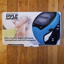 Pyle PSGP310 Multi-Function Digital LED Sports Training Watch w/ GPS Navigation