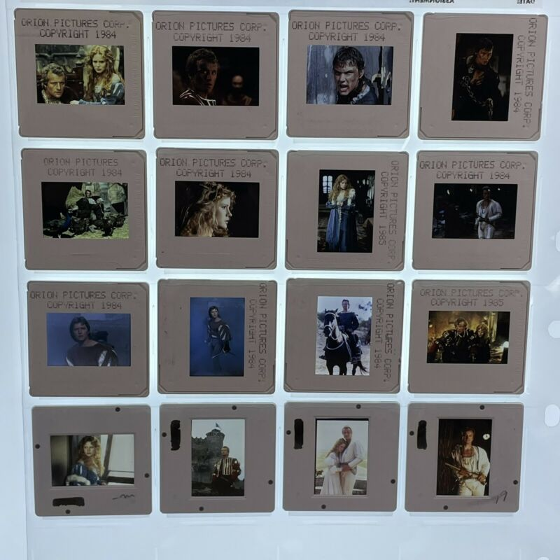 Flesh and Blood Movie 35mm Slides Rutger Hauer Press Kit Promo Vtg Lot of 16