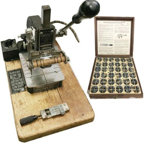Kingsley Machine Model M-50 Hot Foil Stamping Machine USED WORKING 1 LETTER SET
