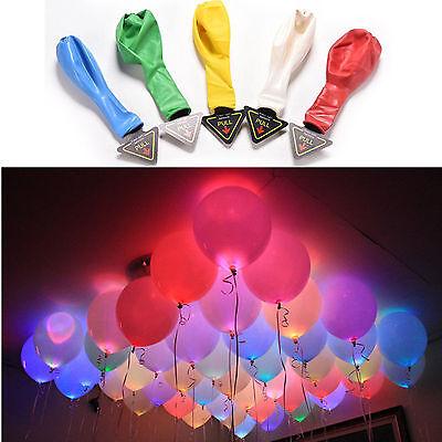 40 Geburtstag Ballons (40x LED Ballons Geburtstag Hochzeit Party Deko Club Licht Mehrfarbig Luftballons)