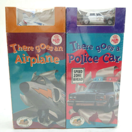 KidVision There Goes An Airplane And There Goes A Police Car VHS Tapes New Lot