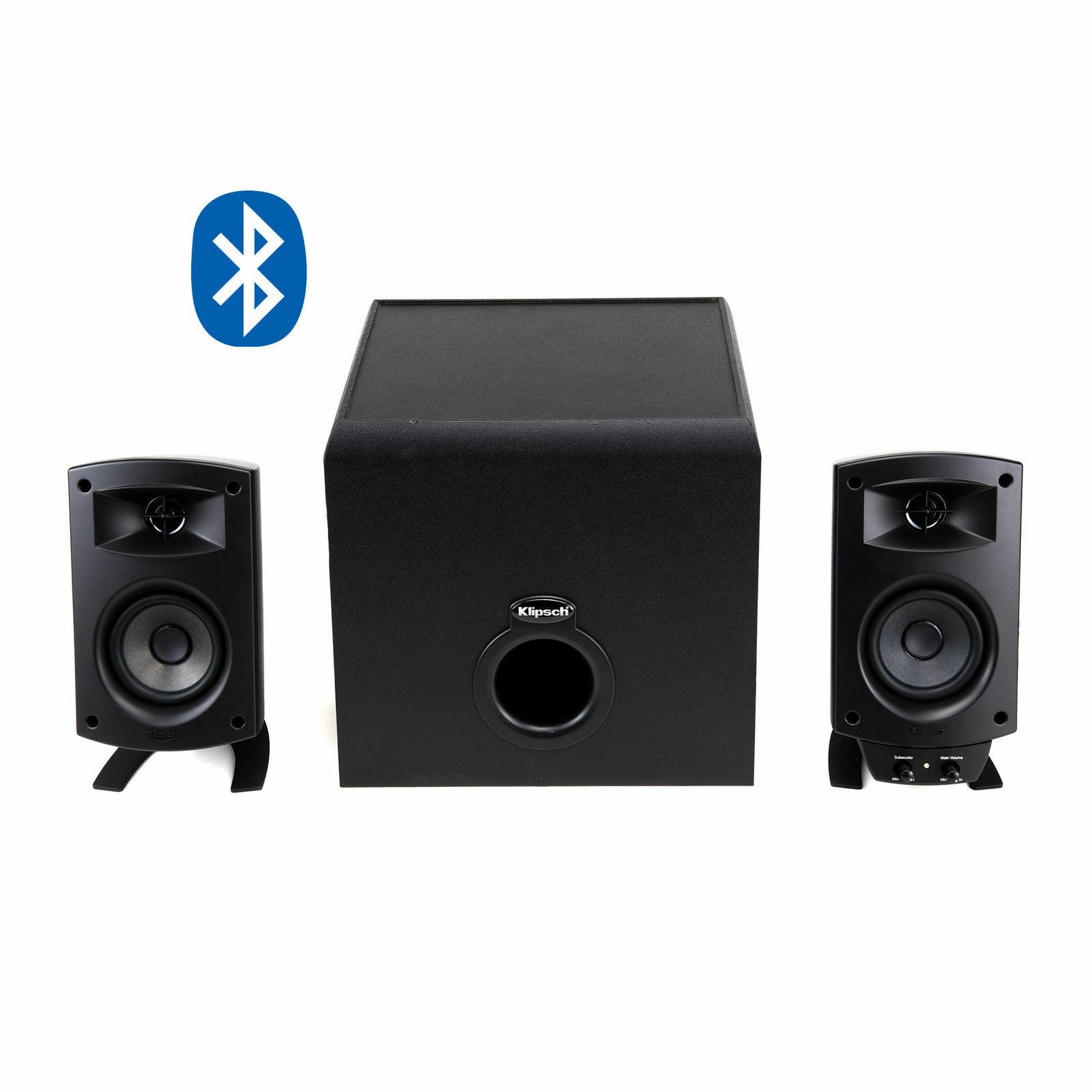 Klipsch - ProMedia 2.1 Bluetooth Speaker System  - Black