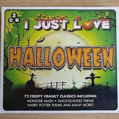 3CD NEW - I JUST LOVE HALLOWEEN - CREEPY CRAWLY CLASSICS - Pop Music 3x CD Album (Halloween 3 Soundtrack Cd)