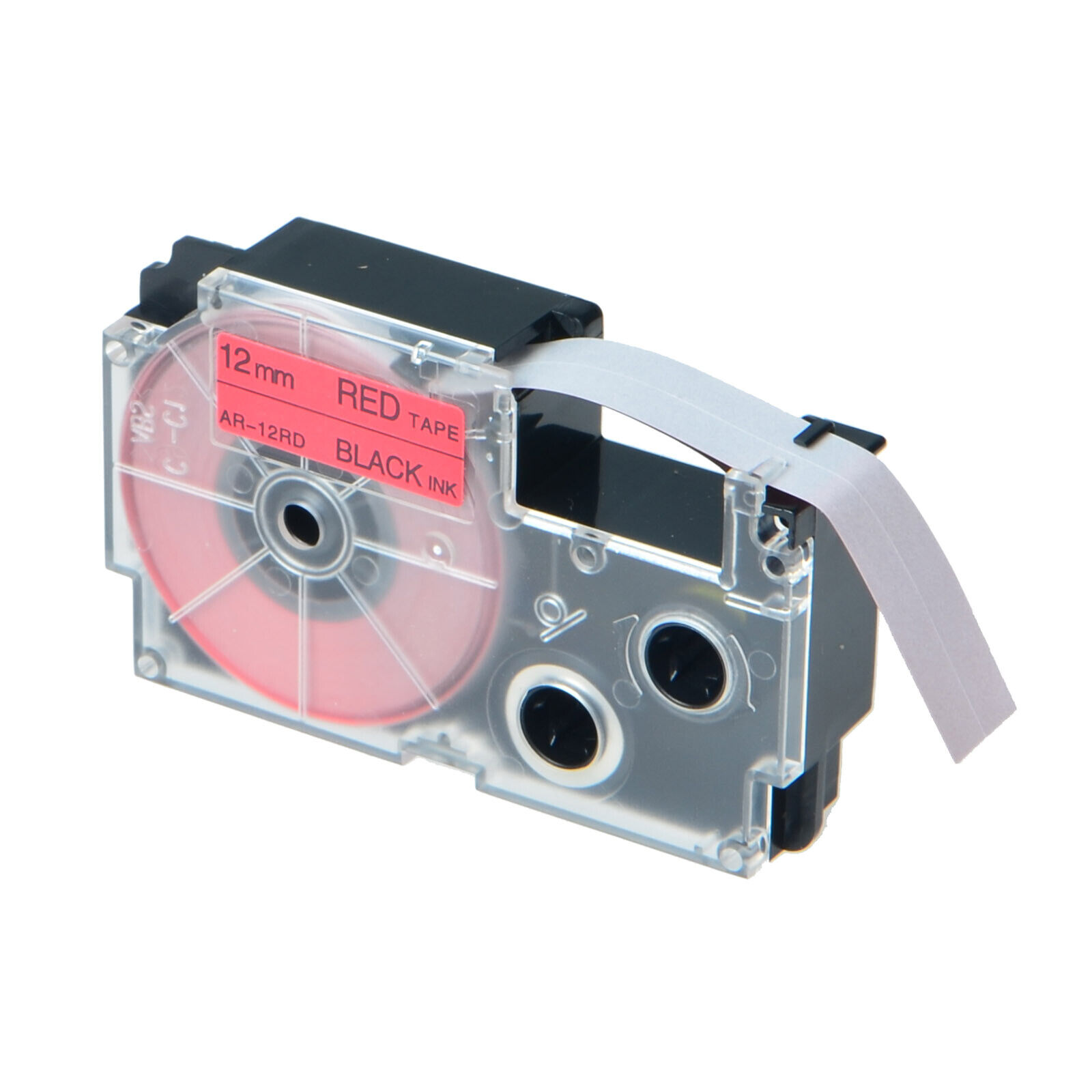 1PK XR-12RD Black On Red Label Tape For Casio KL-780 750B