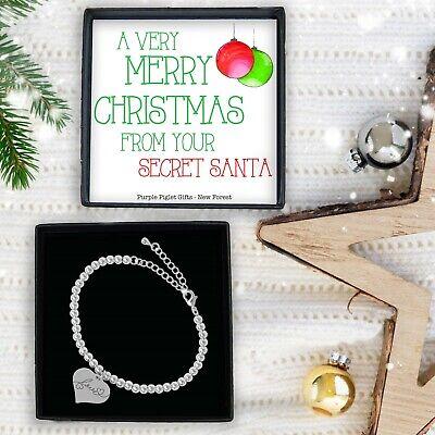 Secret Santa Gift For Under £10 Ladies Silver Bracelet Jewellery Christmas Gift ()