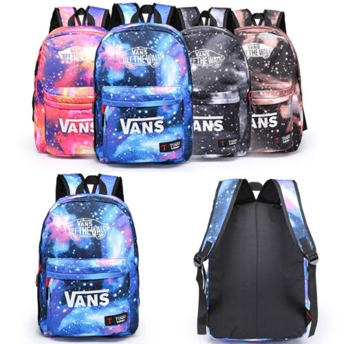 Girls Boys Galaxy Canvas Leisure Rucksack Backpacks Travel School Shoulder Bags