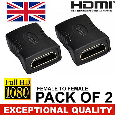 Quality HDMI Female to Female Standard Adapter Convertor Connector Coupler HD TV