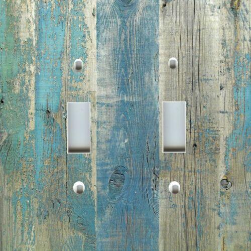 Light Switch Plate Cover ~ Beach Aged Wood Image Blue II ~ Coastal Home Decor