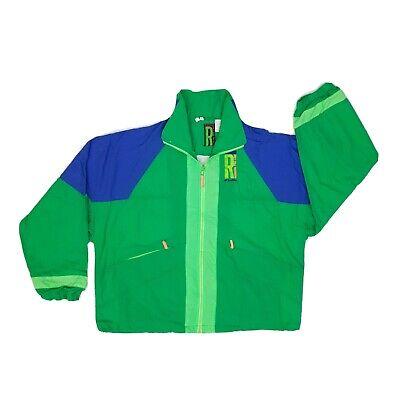 "Vintage 90s Lotto Track Jacket/Windbreaker XL P2P 26.5"" Blue/Green Full Zip"